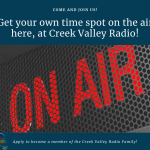 Join Creek Valley Radio!